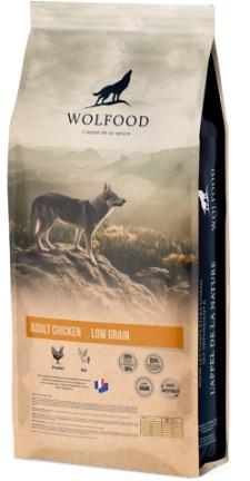 WOLFOOD ADULT CHICKEN produit recommandé par l'Élevage Canin Réa