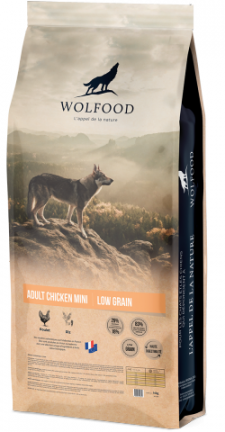 WOLFOOD ADULT CHICKEN MINI produit recommandé par l'Élevage Canin Réa