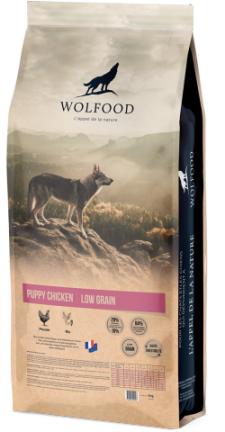 WOLFOOD PUPPY CHICKEN produit recommandé par l'Élevage Canin Réa